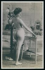 French nude woman Big butt round ass original early c1900s photo postcard