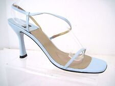 STUART WEITZMAN Baby Blue Leather CHAMP Strappy Sandals Size 9 AA Spain