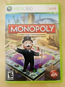 Monopoly (Microsoft Xbox 360) Complete w/Manual