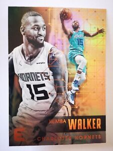 Panini Essentials 2017-18 card carte NBA Charlotte Hornets #156 Kemba Walker