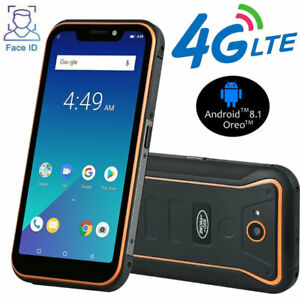 4G LTE Rugged Android Smartphone Mobile Cell Phone Waterproof Face ID Dual SIM