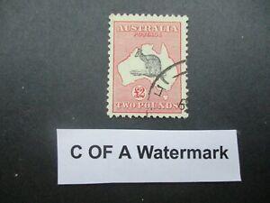 Kangaroo Stamps: £2 Pink C of A Watermark Fine Used  - Great Item (n26)