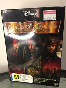 Disney Pirates of the Caribbean Three Movie 5 Out Of 6 DVD Movie Collection