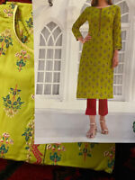 Green Designer Soft Cotton Kurti -Size 44/XXL USA  Seller-Free Shipping