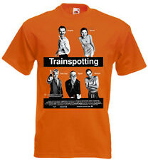 TRAINSPOTTING Movie Poster T shirt Orange all sizes