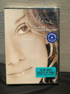 Celine Dion - All the Way: A Decade of Song  Video (DVD, 2000) - New
