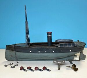 Heller Et Coudry Tin Battleship, ca.early 1900s, Made in France