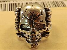 FASHION JEWELRY 316L STAINLESS STEEL VINTAGE LOOK SKULL WITH RIBS SZ11-206