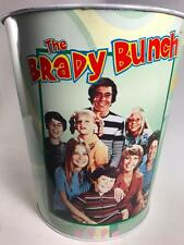 Vintage 1999 THE BRADY BUNCH metal garbage can tin Paramount Pictures Classic TV