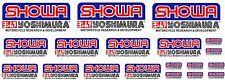 KIT 19 ADESIVI SHOWA  YOSHIMURA STICKERS A COLORI FORCELLA COD63
