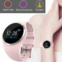 Damen Lady Bluetooth Smartwatch Schrittzähler Armbanduhr Sport Fitness Tracker
