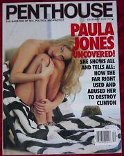 PENTHOUSE Mens Magazine December 2000 issue Paula Jones Nude Giambi Jewel DeNyle
