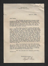 Alfred E. Stearns SIGNED 1937 letter by headmaster of Phillips Academy, Andover