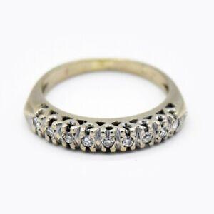 14k White Gold Vintage Diamond Wedding Band/Ring Size 4.5