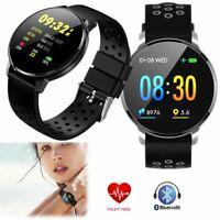 Wasserdicht Smartwatch Sport Pulsuhr Blutdruck Armband für Samsung iPhone XS MAX