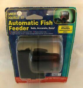 Penn Plax Penn-Plax Daily Double II DDAF2 Battery-Operated Automatic Fish Feeder