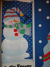 Jolly Frosty Christmas Xmas Snowman Cotton Quilting Fabric Door Panel Patty Reed