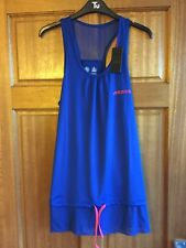 BNWT Women's Musto High Summer Running Sports Vest Top Blue Size 12 RRP £50