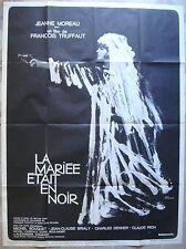 Affiche de Cinema LA MARIEE ETAIT EN NOIR 1ere sortie du Film 120x160 cm 1968