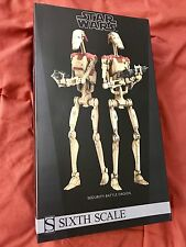 """Star Wars Sideshow Collectibles Security Battle Droids 1:6 Scale 12"""" New"""