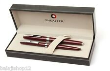 Sheaffer Sagaris Gloss Wine Fountain Pen & Ballpoint pen Set New In Box