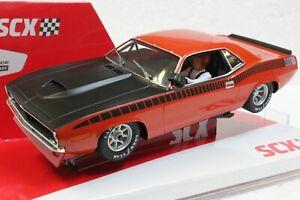 SCX Trans Am Vitamin C Orange Cuda 1970 Ltd Ed Serial # 1/32 Slot Car **BLEM**