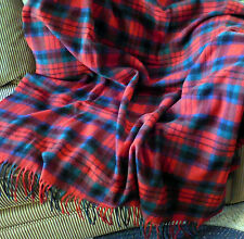 Pendleton wool plaid Stadium Fringe Blanket red plaid throw USA