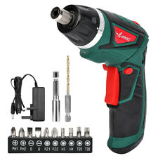 LANNERET 7.2V Electric Cordless Screwdriver with 1500mAh Li-ion Battery,Green