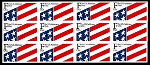 "US#2522a Flag ""F"" Series Pane of 12 Self Adhesive Stamps - VF - CV$7.25 (E#717)"