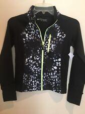 Zella Girl Reflective Shadow Jacket Zip Front Black Sz M New $69