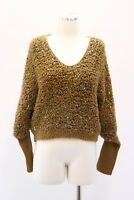 NWT$3795 Brunello Cucinelli Cashmere Chunky Knit Sequined Scoop Neck Knit M A181