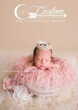 Peony Pink Curly Sheep Basket Stuffer Faux Flokati Fur, Newborn Photography Prop