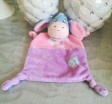 doudou plat Bourriquet bleu rose violet nuage soleil papillon Disney Nicotoy
