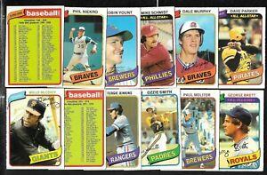 1980 OPC O PEE CHEE TOPPS MLB BASEBALL CARD 126-250 SEE LIST