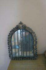 Vintage Wrought Iron Caged Mirror Folding Doors