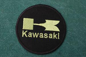 Light Green Kawasaki Iron/Sew On Patch - Biker - Ton Up Boys -  No909A