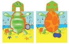 Turtle Hooded Beach Towel Kids  Bath Costume Cotton Pool Cover Up Robe Fun New