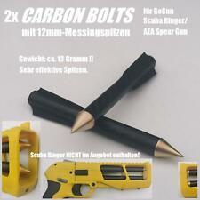 2x Carbon-Harpunen/ Bolzen/ Pfeile Messingsp. f. GoGun SCUBA RINGER/AEA SpearGun