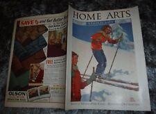HOME ARTS NEEDLECRAFT FEB 1939 STATE O'MAINE PINE CONE KITCHEN DEC. PATTERN KNIT