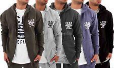 Ecko Men's Cotton Zip Up Hoodie, New Hip Hop Star Era Time Is Money Jacket G,GTB