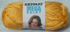 Bernat Mega Builky #6 Yarn Gold #91607 7 0z Skein 4 Left-yellow Soft