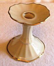 Vintage Lenox 4.5 Inch Porcelain Candlestick Holder With 24K Gold Trim