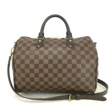 Authentic Louis Vuitton Damier Speedy Bandouliere 30 Boston Hand Bag /30688