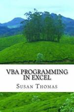 VBA Programming in Excel : Learn with Examples by Susan Thomas (2014, Paperback)