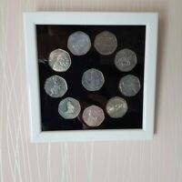 Frame for 50 Pence coins. Custom Made. Coins not included.