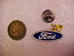 '36 Ford Hat Pin Pinback, Vest Lapel Tie, Vintage NOS, T Bucket, Fat Fenders