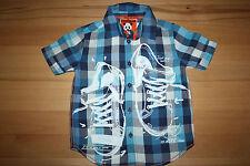 Desigual Gr 98 / 104 / 4 Jahre Jungen Hemd blau kariert NEUWERTIG