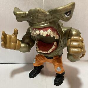 Vtg 1995 Street Shark Jab Hammerhead Action Play Figure NO Jet Pack Wise Design
