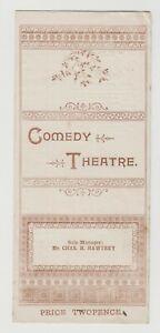 "ANTIQUE VICTORIAN ERA THEATRE PROGRAMME ""Saucy Sally"" The Comedy Theatre"
