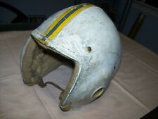 Old Vintage Football Helmet with wool lining Size Medium Maker Unknown